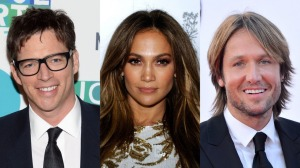 This year's American Idol judges - Harry Connick, Jr., Jennifer Lopez, and Keith Urban.