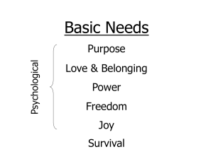 Correct Basic Needs