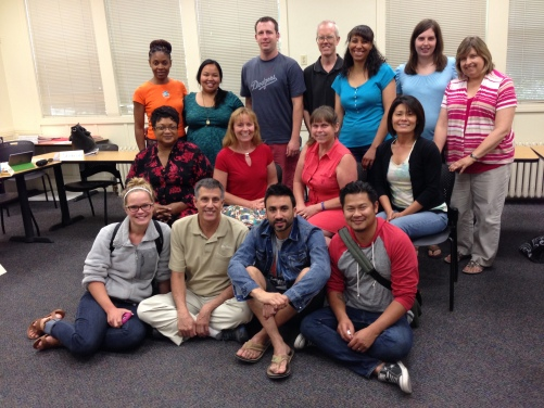 Soul Shapers 1 class, summer of 2014; a talented group of teachers who taught me a lot.
