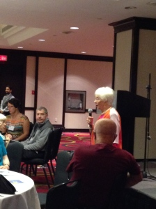 Carleen Glasser speaking at the Toronto conference.