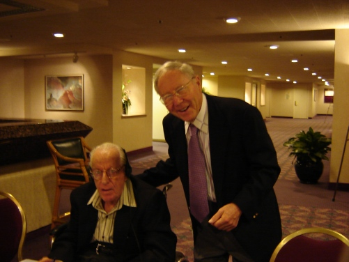Glasser and Albert Ellis, 2005. (Photo by Jim Roy)