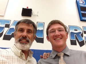 Me and Chris Kinney.