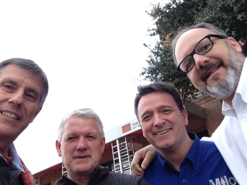 The group that went to the Sixth Floor Museum - me; Gale Crosby, Supt. of Education, Oregon Conference; Randy Thornton, Principal, Milo Academy; and Dan Nicola, Principal, Portland Adventist Academy.
