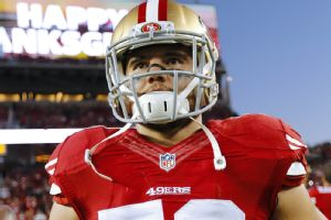 Chris Borland, taken during the Nov. 27, 2014, game against the Seattle Seahawks.