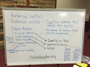 The simple outline followed during the Parent Night orientation.